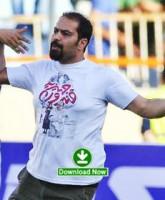 تصاویر جدید اضافه شد: تبلیغات اعتراضی در بازی ستارگان ایران و جهان / جیمی جامپ علی ملاقلی پور