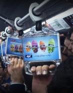 استفاده از لنتیکولار تبلیغاتی برای اولین بار در دستگیره های مترو توسط شرکت پاکشو + ویدیو