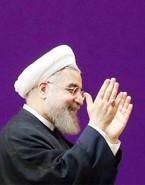 چه وقت رنگِ بنرِ پشت رئیس جمهور بنفش طراحی می شود؟ / نگاهی به استفاده هوشمندانه از رنگِ هویت بصری آقای روحانی